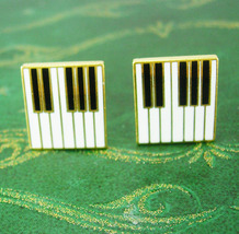 Jazzy Cuff links Elegance of Music Piano Key Cufflinks Vintage Musician ... - $95.00