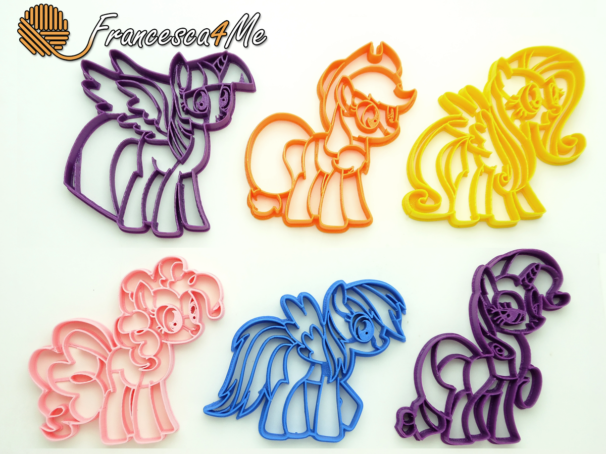 My Little Pony Cookie Cutters Set of 6 for sale  USA