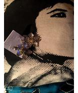JESSICA SIMPSON Cute Silver Tone Flower Earrings NWT rt $30 - $13.86