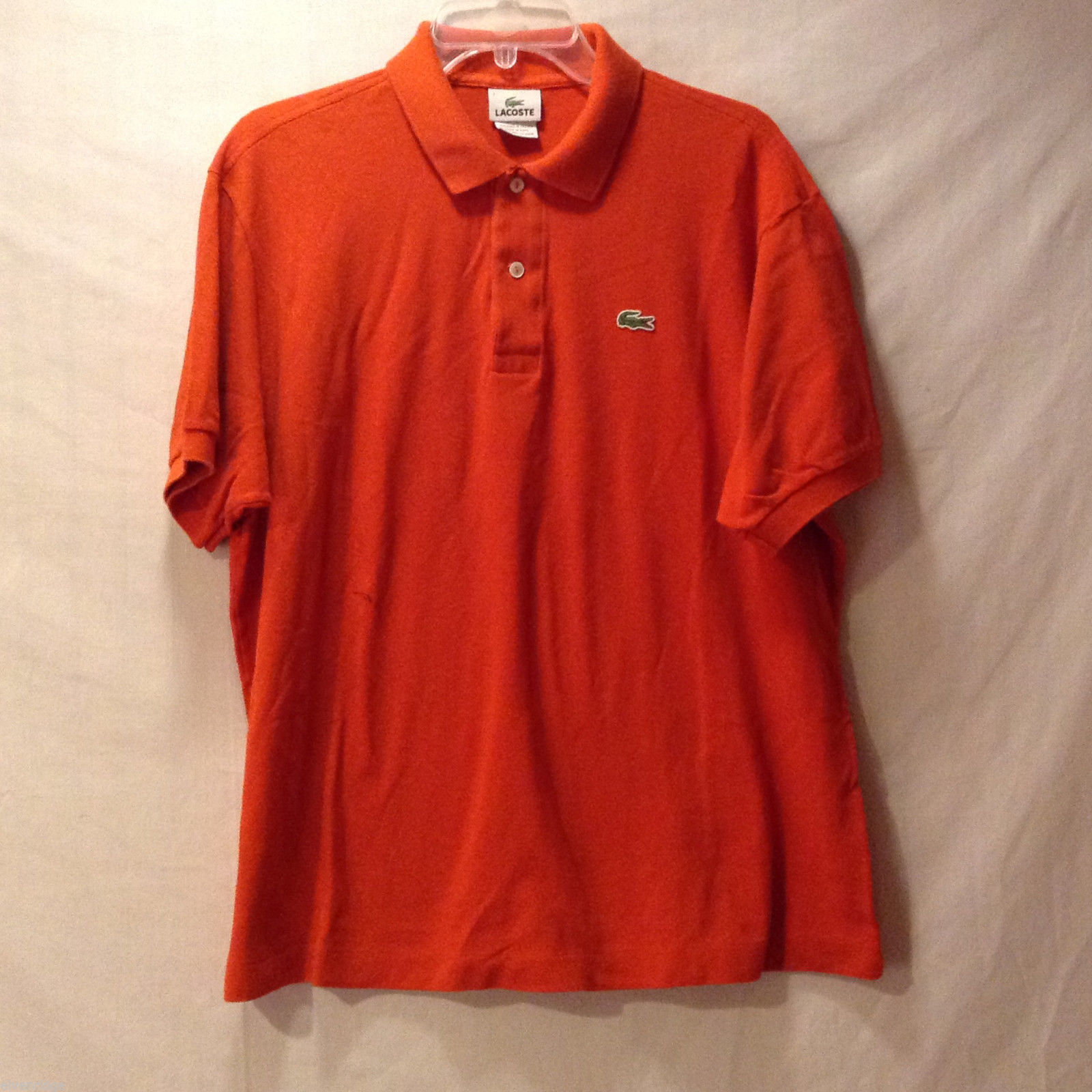 Men's Size 2XL Polo Shirt 100% Cotton Bright Solid Orange Short Sleeves