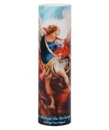 SAINT MICHAEL THE ARCHANGEL - LED Flameless Devotion Prayer Candle - $19.95