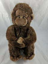 "Dakin Monkey Ape Gorilla Plush 13"" 1981 Brown Stuffed Animal toy - $39.95"