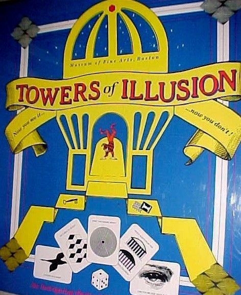 Primary image for Towers of Illusion Board Game Optical 3-D Museum of Fine Arts Boston 1990 New