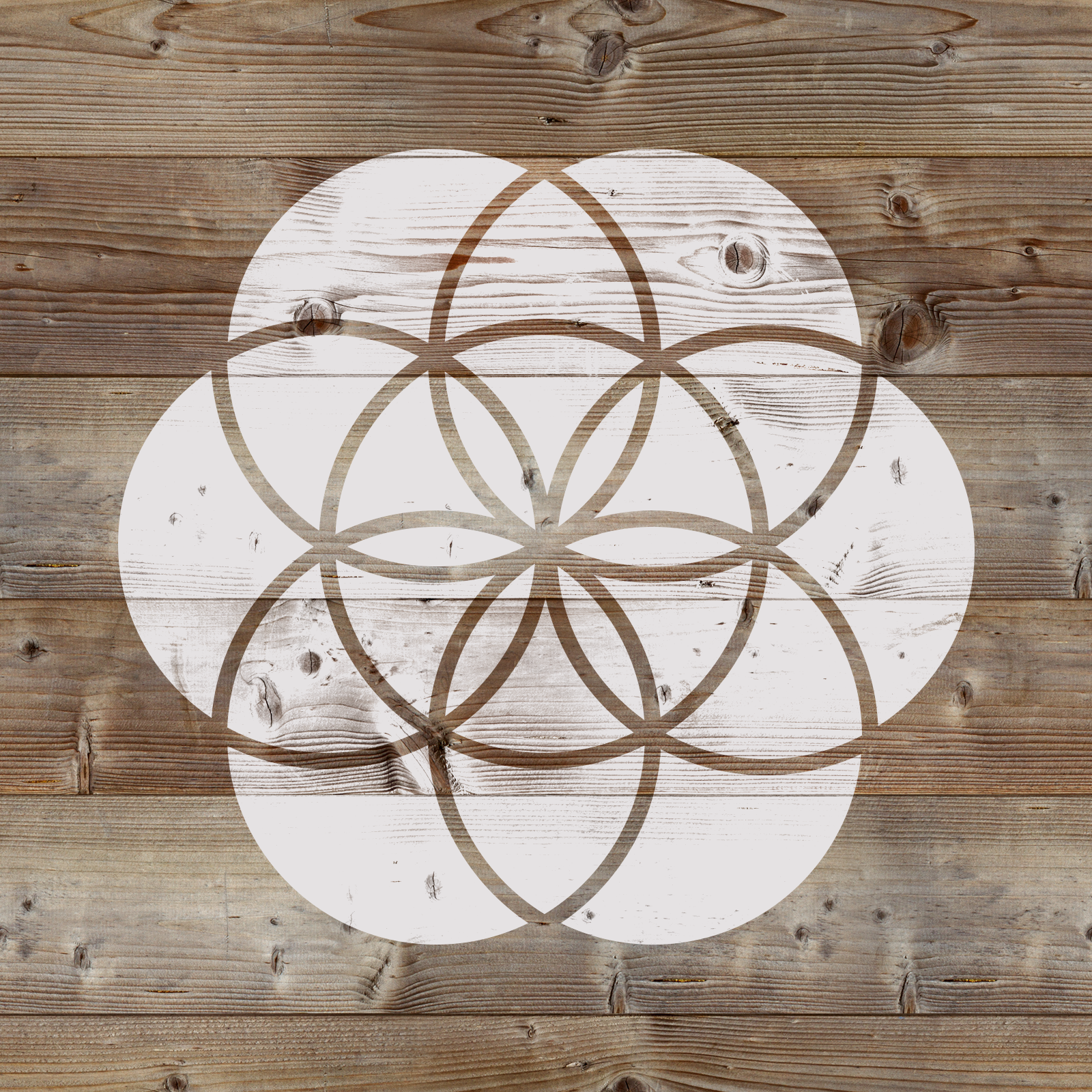 Seed of Life Stencil - Reusable Stencils of Seed of Life in Multiple Sizes