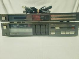 Technics SU-600 Amp Amplifier &  ST-Z400 Quartz Synthesizer FM/AM Stereo... - $158.59