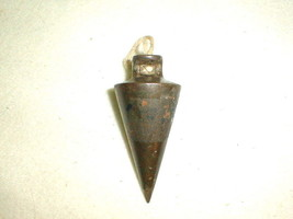 Old plumb bob metal 8 oz tool - $25.00