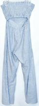 ONEBYEONE Women's Blue White Pinstripe Sleeveless Jumpsuit Playsuit Size S image 2
