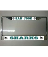 SAN JOSE SHARKS TEAM LOGO  NHL HOCKEY METAL LICENSE PLATE FRAME - $27.07