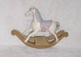 Vintage Burwood Products Plastic Rocking Horse Wall Hanging Plaque - $9.49