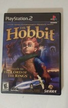 The Hobbit Playstation 2 PS2 Game 2003 Complete Black Label Sierra  Prelude LOTR - $19.18
