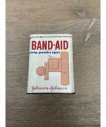 Vintage Johnson & Johnson Metal BAND-AID CONTAINER Pre-1980 - $10.00
