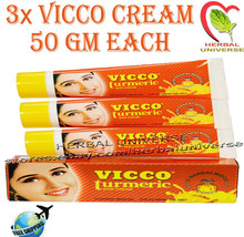 3x Vicco Turmeric Skin Cream Fairness | Scars | Acne | Pimples | 50 Gm e... - $17.33