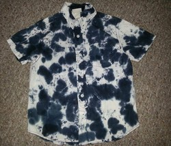 MOSSIMO Blue Tie Dyed Short Sleeved Top Boys Size 4-5 - $2.66