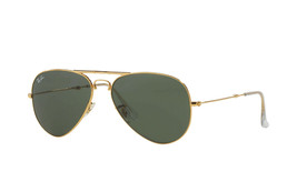 New Ray Ban Folding Aviator RB3479 001 Gold w/Green G-15 58mm - $148.91