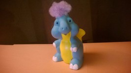 Fisher Price Little People TOUCH 'N FEEL DINOSAUR Turquoise Yellow Purple - $5.25