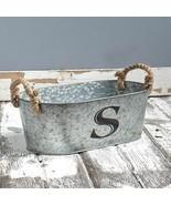 Galvanized Monogram Bucket S - $18.73