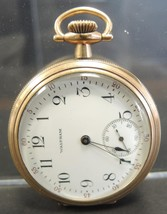 1920s Waltham 16S Open Face 7 Jewel 610 Grade Gold Fill Pocket Watch - $71.24