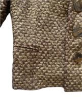 Brown Gold Ralph Lauren Collection Women Blazer Coat Jacket Sz 4 Made in USA image 3