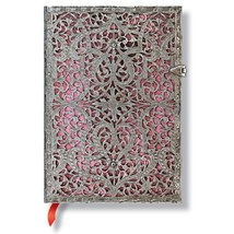 Paperblanks Silver Filigree Blush Pink Midi Journal 5 X 7 Lined - $42.95