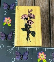 Comotion Roses 664 Flowers Rubber Stamp Wood 1993 Bouquet #G64 - $7.91