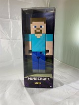 "Mattel FLC71 Minecraft Steve Action Figure 8.5"" Large Scale NIP - $11.29"
