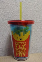 """PRETTY FLY FOR A SMALL FRY"" 10 OZ KIDS TUMBLER CUP W/ STRAW  - $8.86"