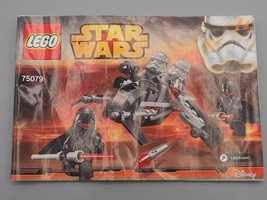Lego Star Wars Ombre Troopers 75079 Instruction Manuel - $24.23