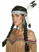 Smiffys Native American Indian Braided Wig Halloween Costume Accessory 4... - $32.43