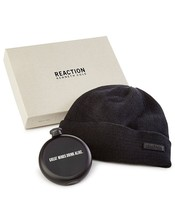 $55 Kenneth Cole Reaction Men's Flask Beanie Gift Set, Black. - $19.79