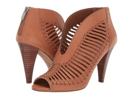 Women Vince Camuto Acha Cutout Peep Toe Booties, Multiple Sizes Brick VC-ACHA - $119.95