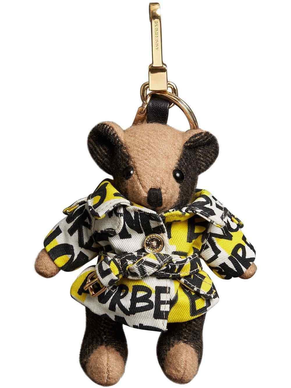 a29a80fccf26 Burberry Thomas Bear Bag Charm in Graffiti Print Trench Coat Key Fob ~NWT~  Box -  236.00
