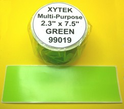 "2 Rolls 2 5/16"" x 7 1/2"" Green Labels fit ZEBRA 2844, 450 - USA Made & BPA Free - $14.95"