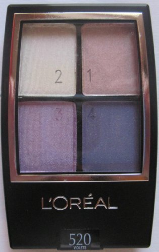 L'oreal Wear Infinite Eyeshadow Quad, Eva's Violets 520, 2 pack