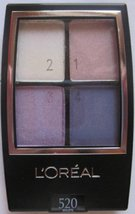 L'oreal Wear Infinite Eyeshadow Quad, Eva's Violets 520, 2 pack  - $24.00