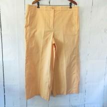 New Ann Taylor The Marina Pants 18 Peach Orange Wide Leg Crop High Rise ... - $37.18