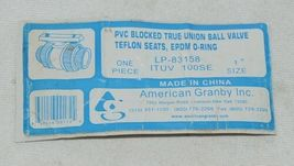 American Granby Inc ITUV 100SE PVC Blocked True Union Ball Valve image 4