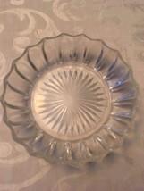VINTAGE STARBURST GLASS  BOWL SNACK CANDY DISH - $8.15