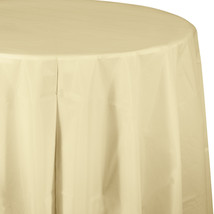 82 inch Plastic OctyRound Tablecover Ivory/Case of 12 - $52.12
