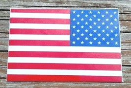 """AMERICAN FLAG Highly Reflective Vinyl  REVERSE DECAL - 4"""" x 6"""" - $9.65"""