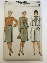 Vogue Sewing Pattern 8082 Misses Career Jacket Skirt Blouse Sz 22 1/2 Un... - $19.99