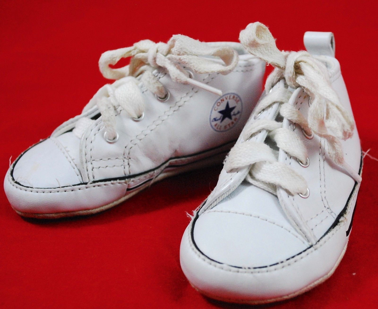 Infant Baby CONVERSE Crib Shoes SIZE 3 White and 25 similar items