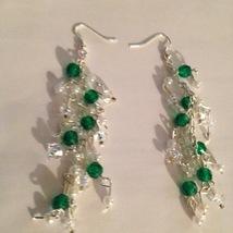 going green just got prettier in these dangling beaded pierced earringse - $19.99