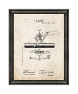 Fishing Reel Patent Print Old Look with Black Wood Frame - $24.95 - $109.95
