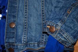 Gap Kids Outfit Set - Jean Jacket ON Leopard Skinny Jeans Jeggings + Justice Top image 2