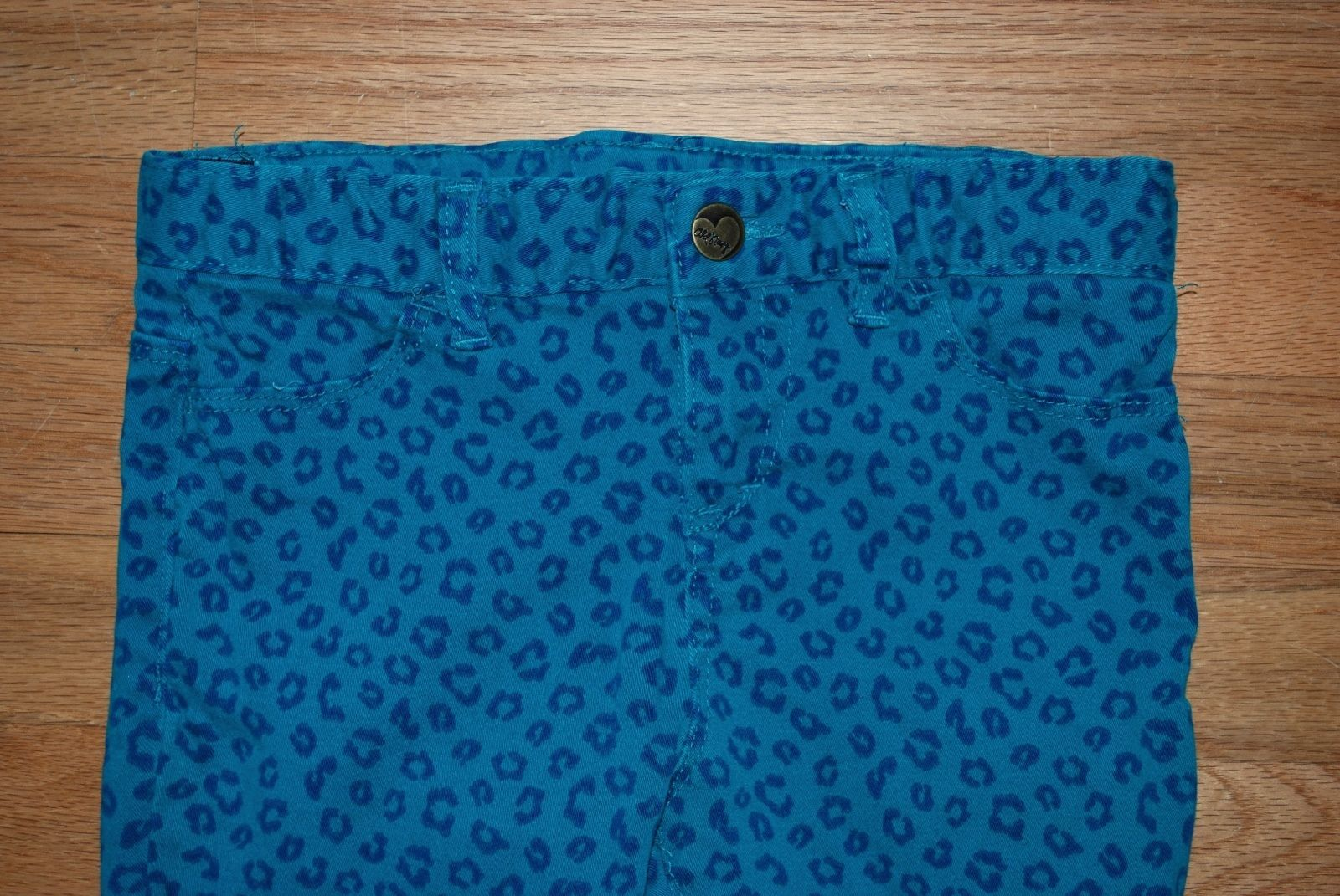 Gap Kids Outfit Set - Jean Jacket ON Leopard Skinny Jeans Jeggings + Justice Top image 6