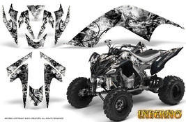 Yamaha Raptor 700 06-12 Graphics Kit Creatorx Decals Inferno White Black - $157.09