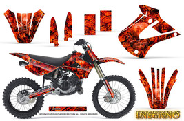 Kawasaki KX85 KX100 2001-2013 Graphics Kit CREATORX Decals INFERNO R - $178.15