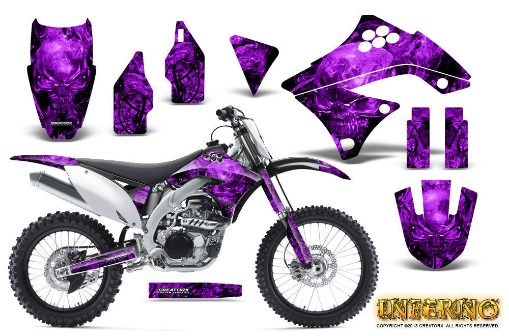Primary image for KAWASAKI KXF450 KX450F 09-11 GRAPHICS KIT CREATORX DECALS INFERNO PR