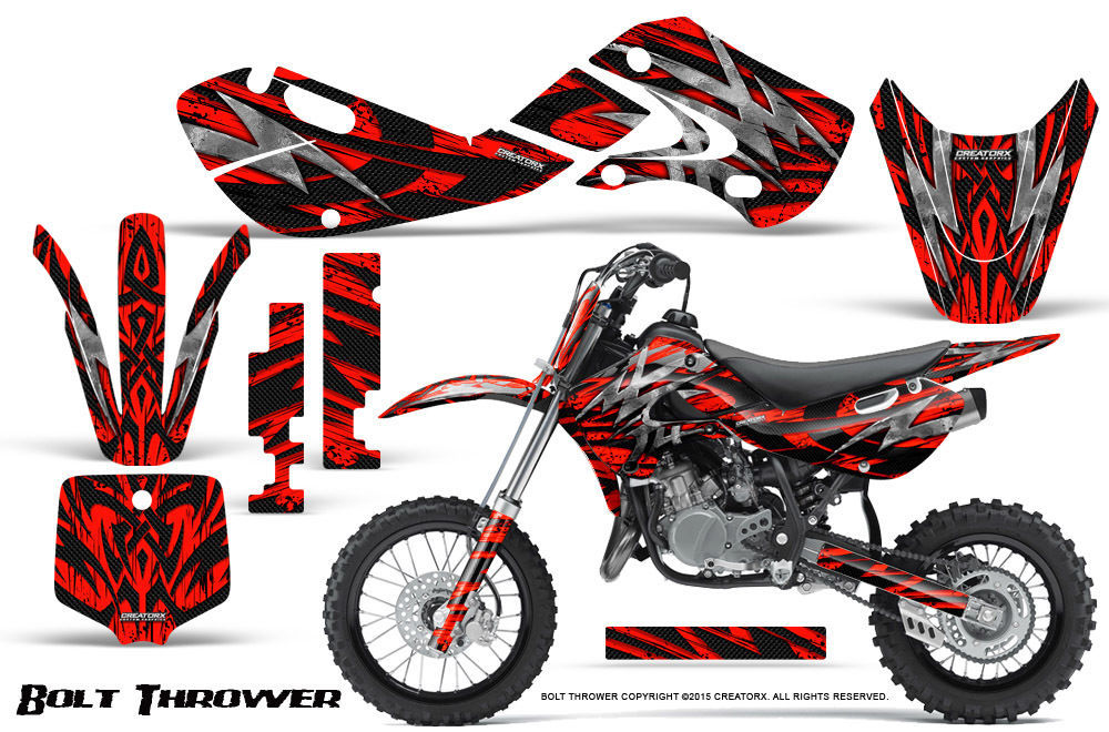 Primary image for KAWASAKI KLX110 02-09 KX65 00-12 GRAPHICS KIT CREATORX DECALS BTR
