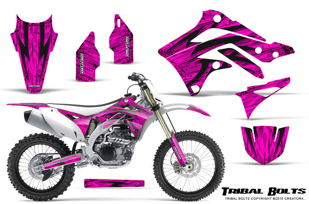 Primary image for KAWASAKI KXF450 KX450F 12-15 CREATORX GRAPHICS KIT DECALS TRIBAL BOLTS P